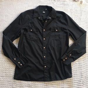 Cheap Monday XL Snap Button Long Sleeve Shirt